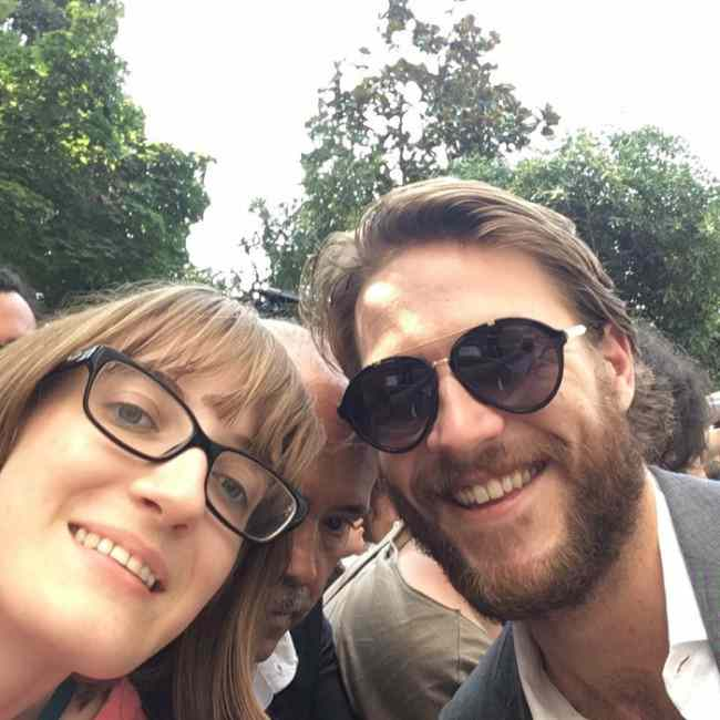 Luke Bracey and Lisa Zangrando in a selfie in February 2017