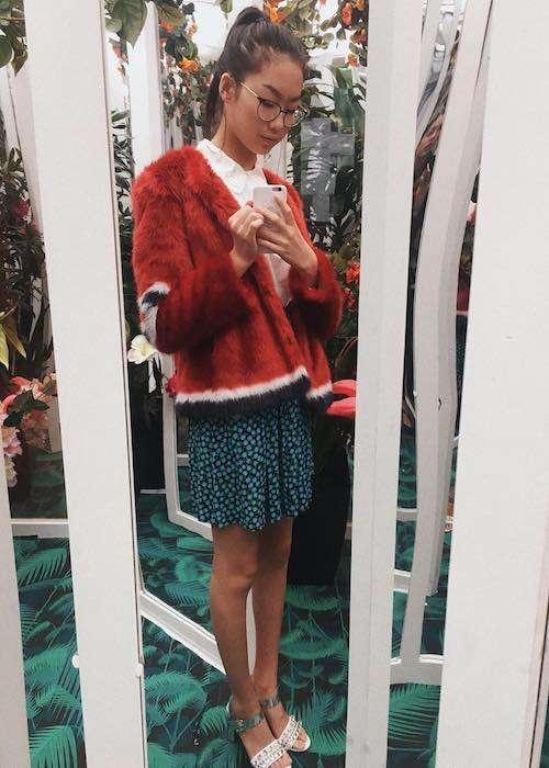 Madison Hu in an Instagram selfie in October 2017