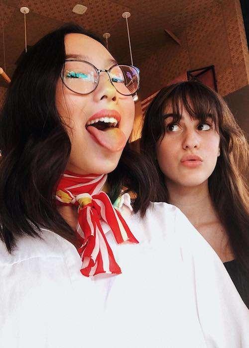 Madison Hu with Maya Jade Frank in an Instagram selfie in October 2017