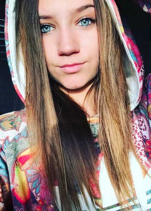 Madison Lewis wearing Adidas in an Instagram selfie in February 2017