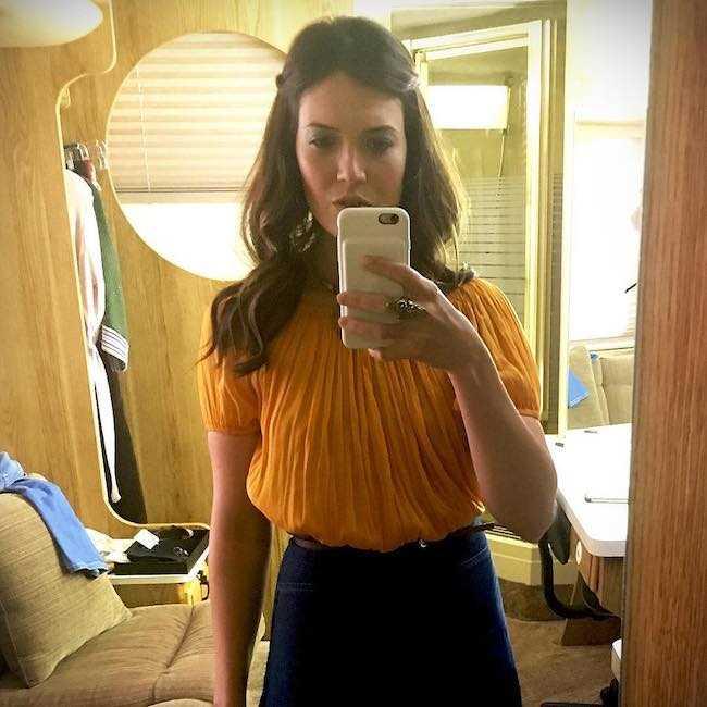 Mandy Moore in an Instagram selfie in July 2017