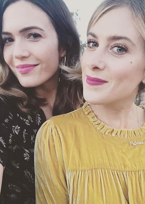 Mandy Moore with her friend Ashley Streicher in 2018