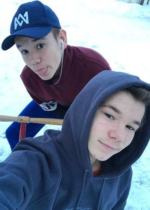 Marcus and Martinus Gunnarsen in an Instagram selfie in December 2017