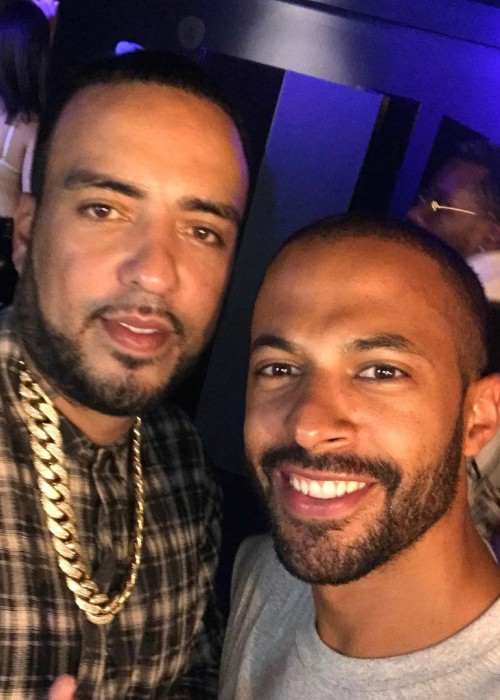 Marvin Humes (Right) and French Montana in August 2017