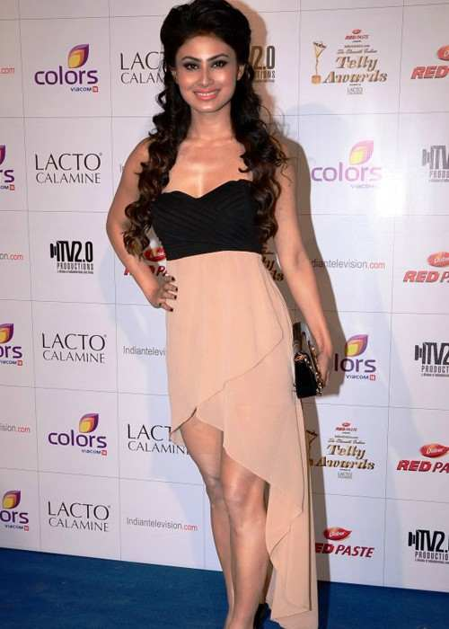 Mouni Roy at the Colors Indian Telly Awards in June 2012