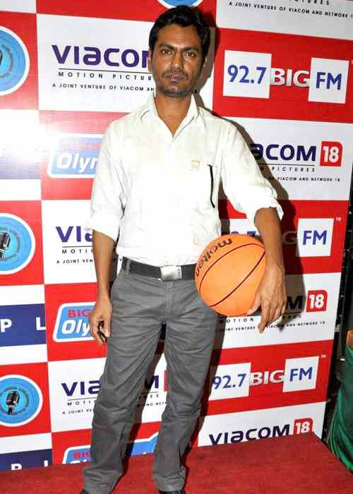 Nawazuddin Siddiqui during the Gangs of Wasseypur 2 promotion in August 2012
