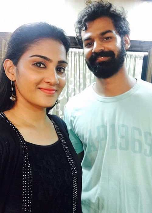 Pranav Mohanlal and Aditi Ravi in an Instagram selfie