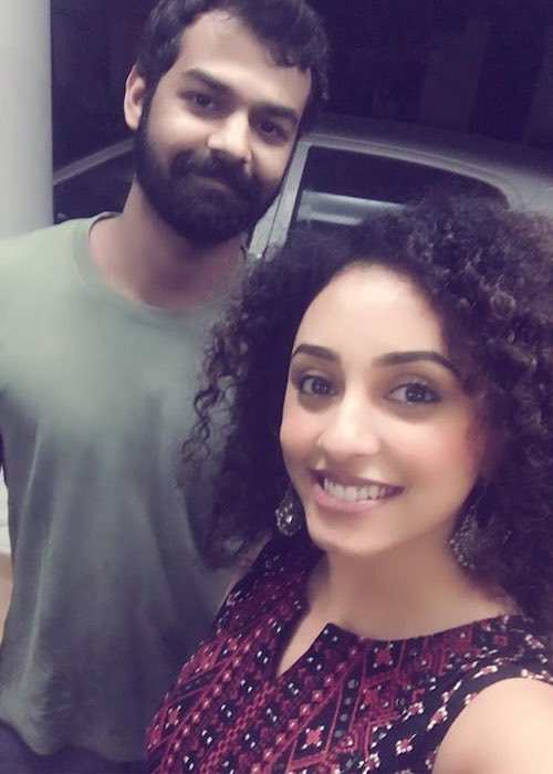 Pranav Mohanlal and Pearle Maaney in an Instagram selfie in 2017