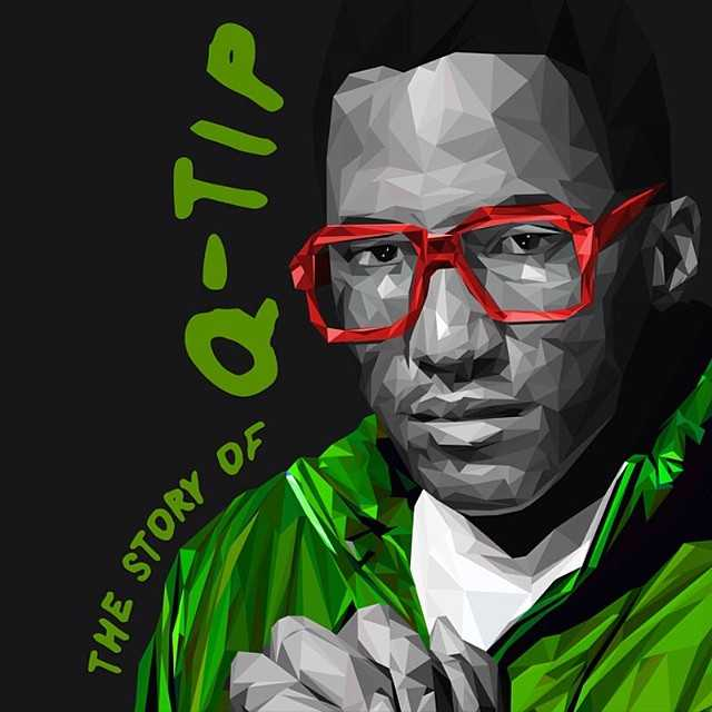 Q-Tip painting published on Instagram in June 2014
