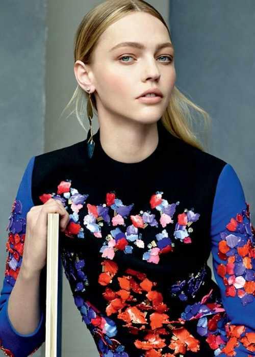 Sasha Pivovarova in a photoshoot for Vogue in July 2014