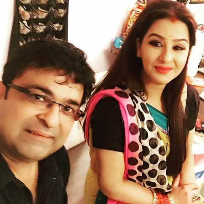 Shilpa Shinde and Janakraj Agrawal in a selfie in December 2015