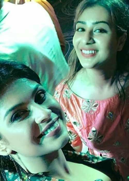 Shilpa Shinde and Rashmi Sharma in an Instagram selfie as seen in January 2018