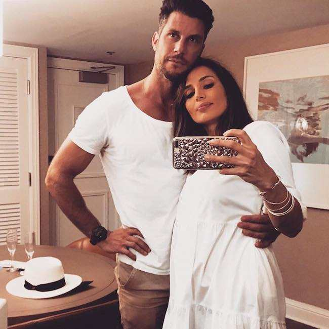 Snezana Markoski with partner Sam Wood in a selfie in August 2017