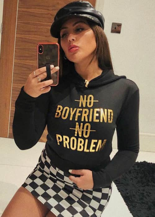 Sophie Kasaei in an Instagram selfie in January 2018