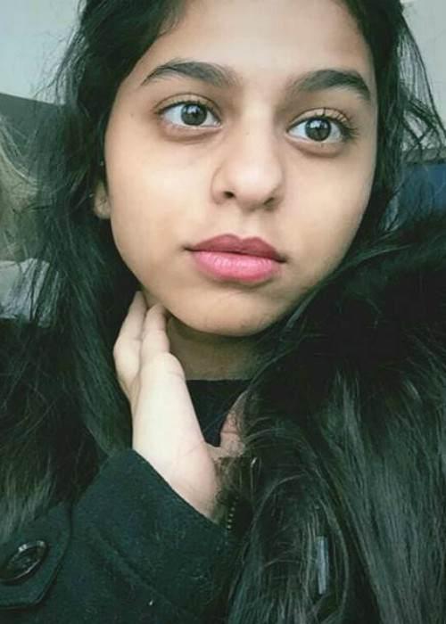 Suhana Khan in an Instagram selfie in November 2017