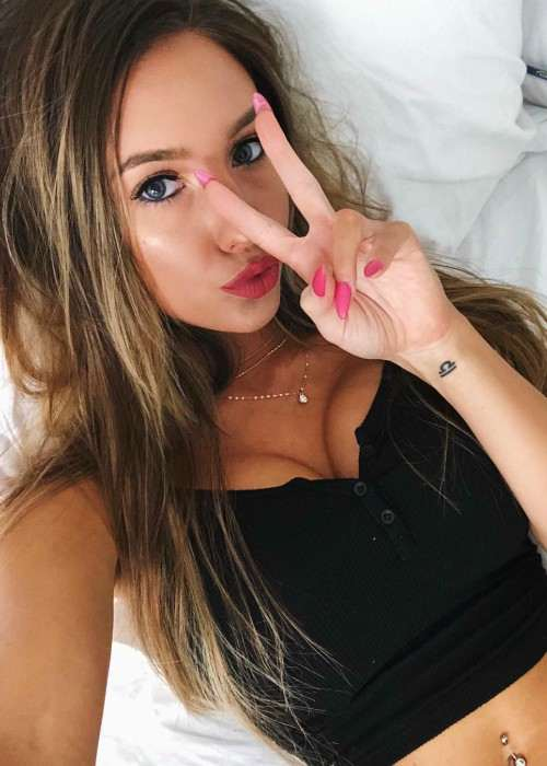 Taylor Alesia in a selfie in January 2018