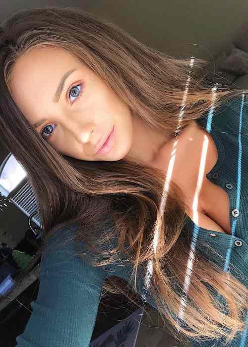 Taylor Alesia in an Instagram selfie as seen in November 2017