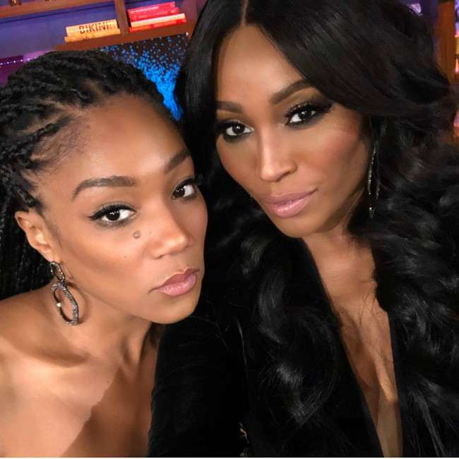 Tiffany Haddish (Left) and Cynthia Bailey in an Instagram selfie as seen in December 2017
