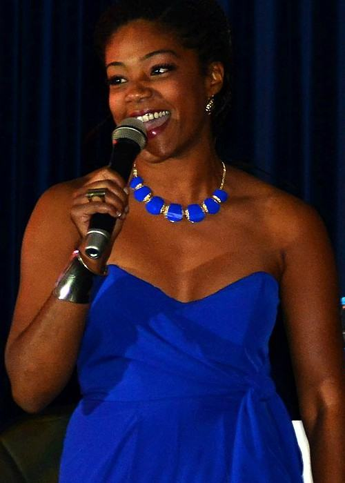 Tiffany Haddish during a performance on October 21, 2013, at Incirlik Air Base