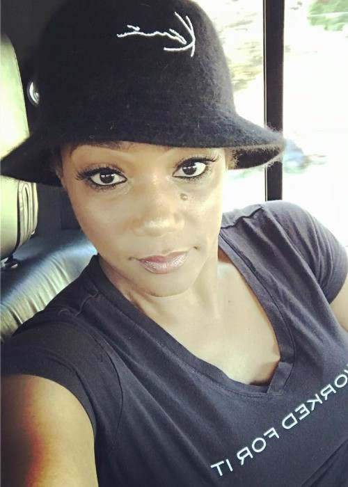 Tiffany Haddish in an Instagram selfie as seen in July 2017