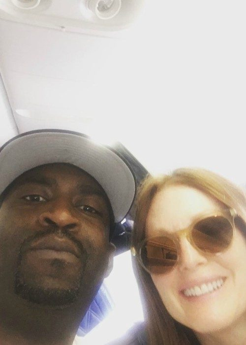 Tony Yayo and Julianne Moore in an Instagram selfie in May 2017