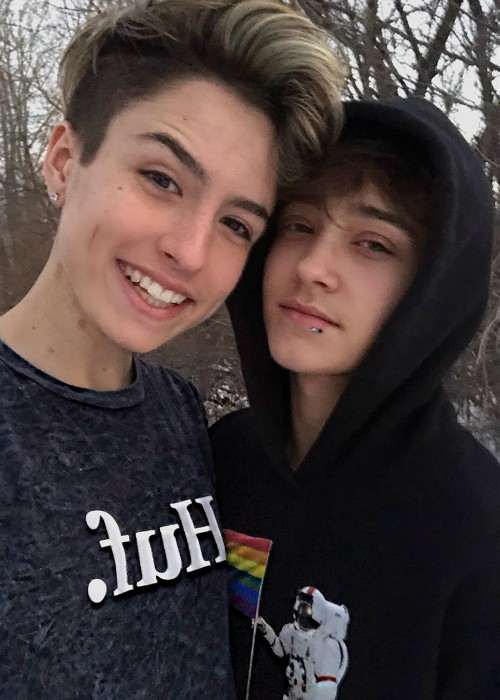 Tyler Brown (Left) and Justin Blake in an Instagram selfie as seen in January 2018