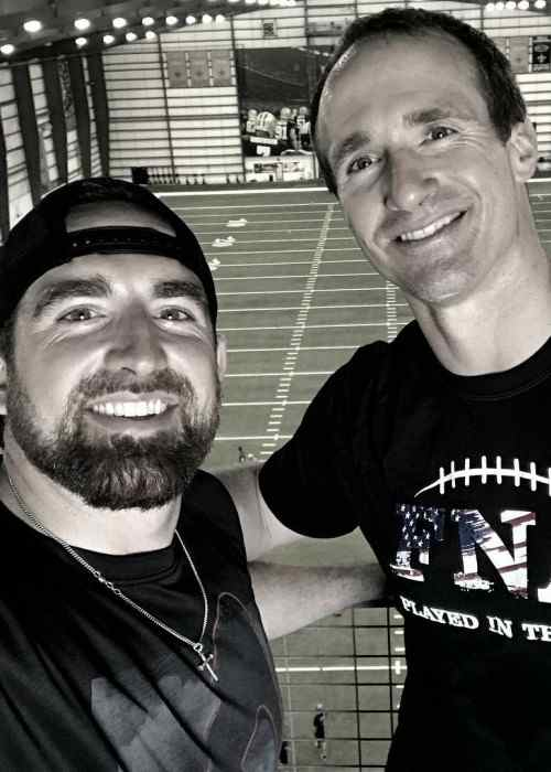 Tyler Toney (Left) and Drew Brees in an Instagram selfie in May 2017