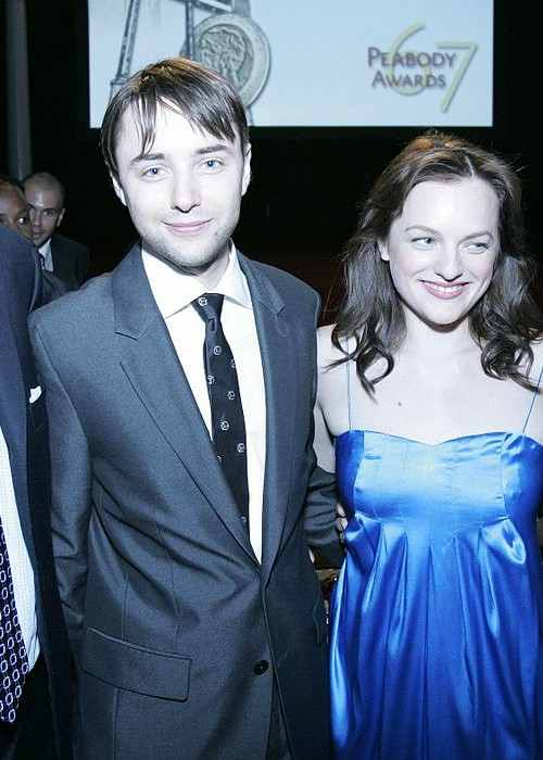 Vincent Kartheiser and Elisabeth Moss at the 67th Annual Peabody Awards in June 2008