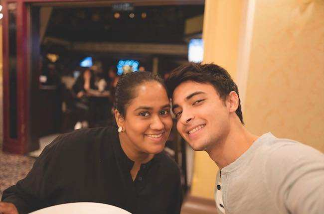 Aayush Sharma and Arpita Khan as seen in December 2016