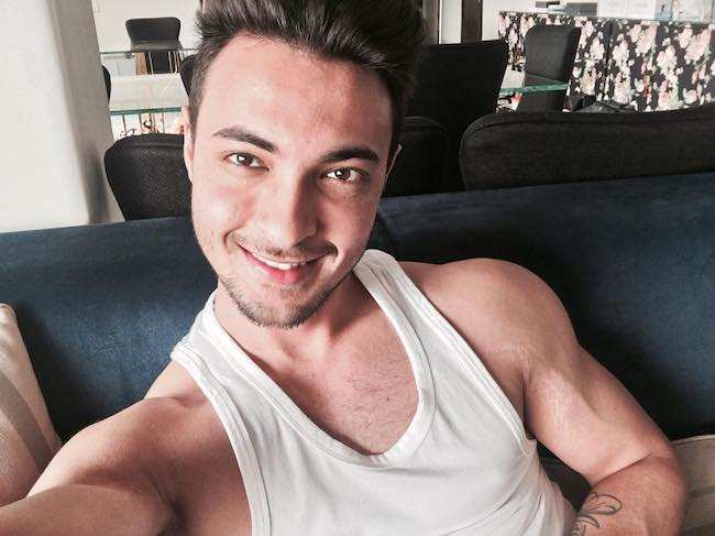 Aayush Sharma in an Instagram selfie in February 2016