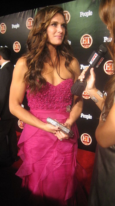 Actress Brooke Shields during an interview in 2008