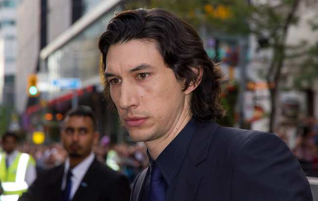 Adam Driver at the premiere of While We're Young