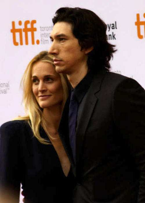 Adam Driver with wife Joanne Tucker in 2014