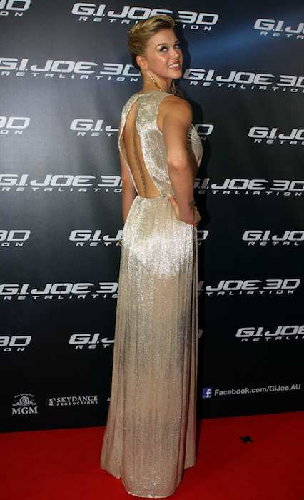 Adrianne Palicki at G.I. JOE RETALIATION movie premiere in 2013 in Australia