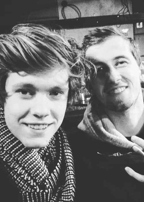 Alan Walker (Right) and Sander in an Instagram selfie as seen in January 2016
