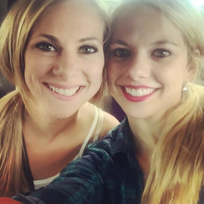 Alexa Scimeca Knierim and Alivia Clare in a selfie in August 2015