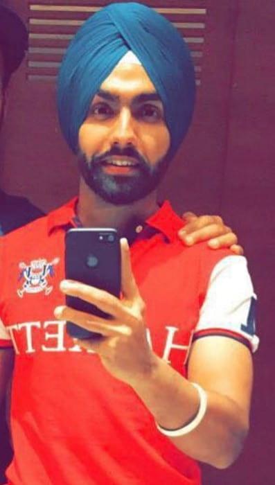 Ammy Virk in an Instagram selfie as seen in July 2017