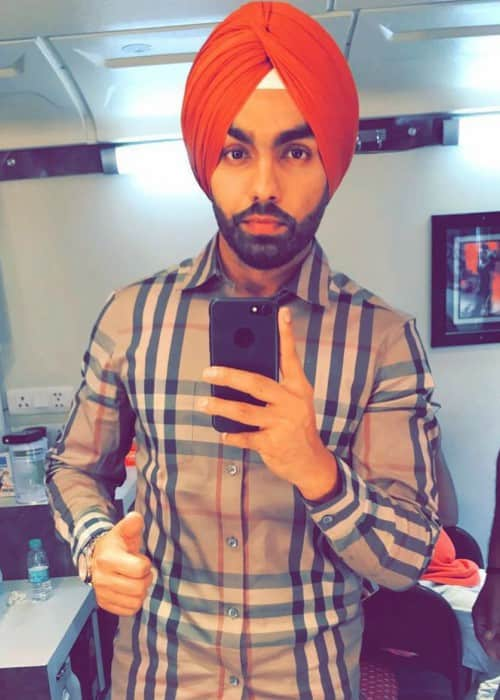 Ammy Virk in an Instagram selfie in October 2017