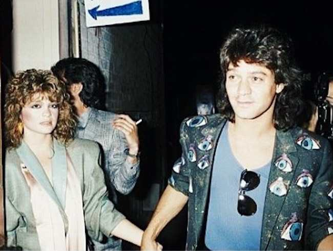 An old picture of Valerie Bertinelli and Eddie Van Halen