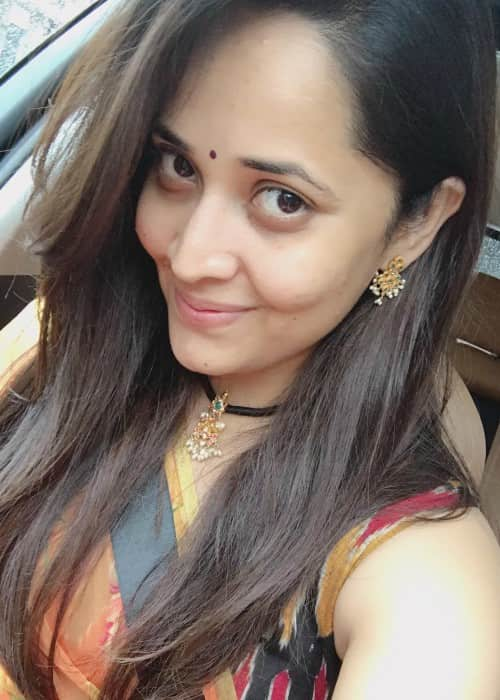 Anasuya Bharadwaj in an Instagram selfie in August 2017