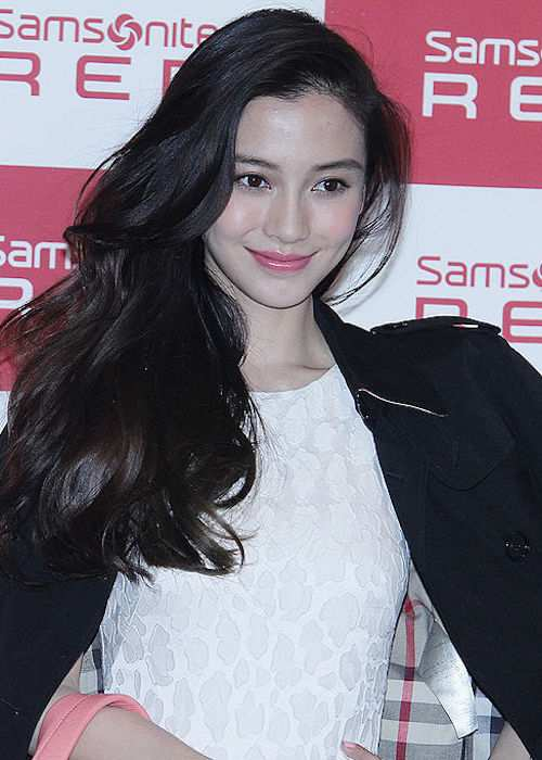 Angelababy during a Samsonite Red event in 2014