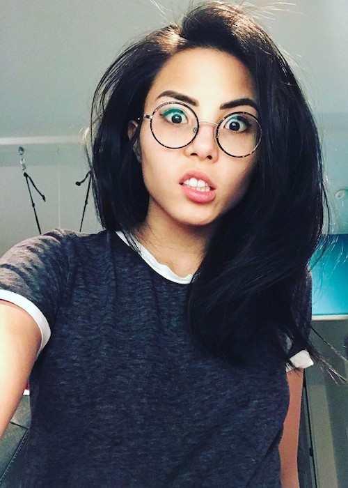 Anna Akana in a selfie in February 2017
