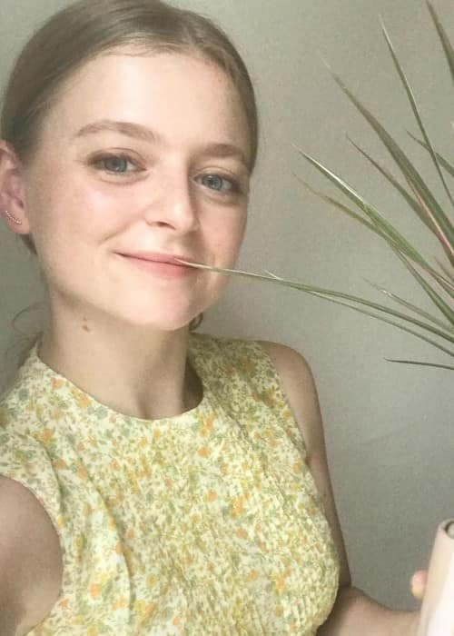 Anna Baryshnikov in a selfie in August 2017