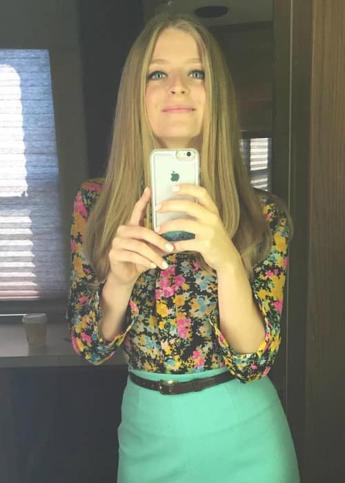 Anna Baryshnikov in an Instagram selfie as seen in July 2016