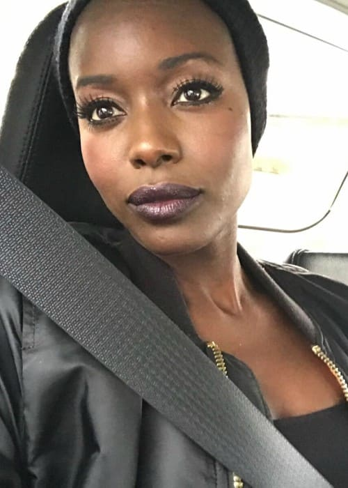 Anna Diop in an Instagram selfie as seen in November 2017