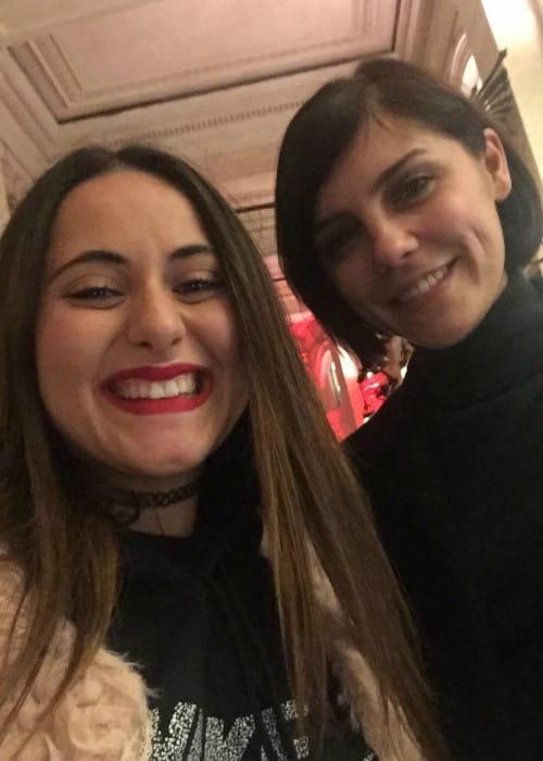 Annabel Scholey (Left) in a selfie with a fan in December 2016