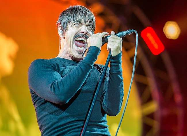 Anthony Kiedis performing at Rock im Park 2016 Music Festival