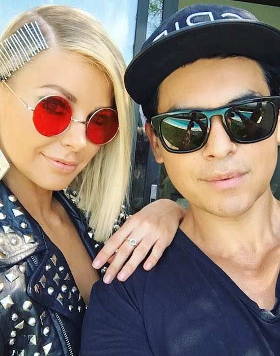 Ariana Madix and Tom Sandoval as seen in July 2017
