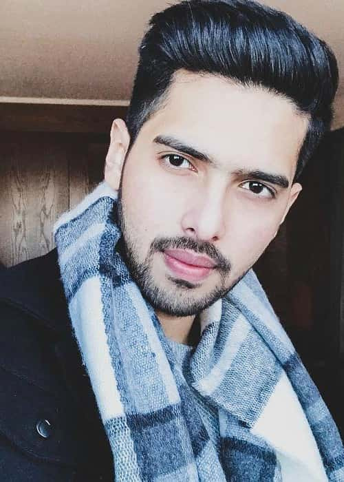 Armaan Malik in an Instagram selfie as seen in January 2018