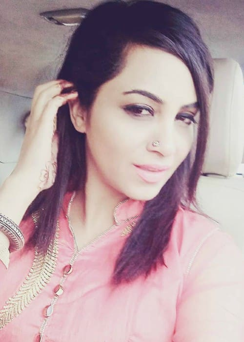 Arshi Khan in an Instagram selfie as seen in January 2018